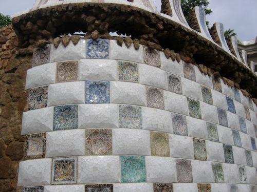 wall in gaudi park