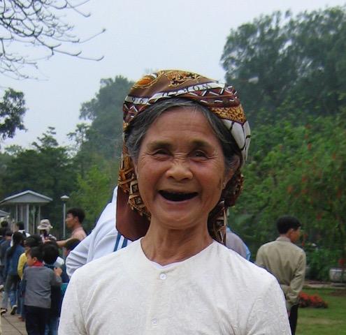 woman's face vietnam