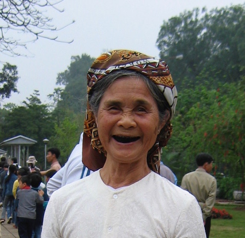 woman's face vietnam