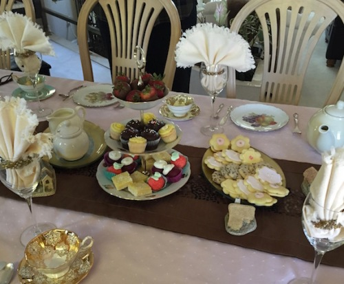 english tea table