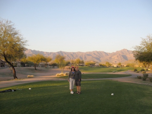 Dave and me on one of our favorite courses in Gold Canyon Arizona
