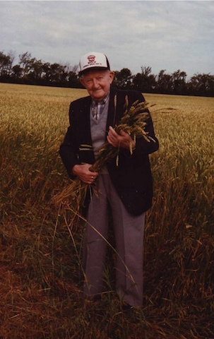 grandpa in wheat field