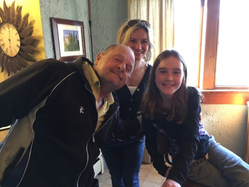Dave with a niece and great niece