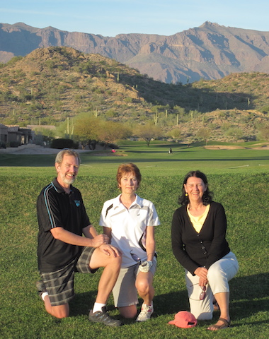 With our friends Rudy and Sue on a course in Arizona