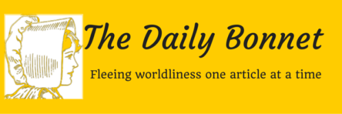 Logo for the Daily Bonnet a website that pokes fun at all things Mennonite
