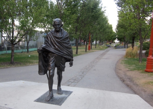 Statue of Gandhi at The Forks in Winnipeg