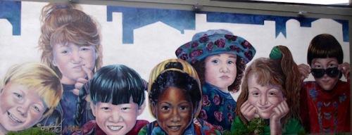 street mural canada's children saskatoon