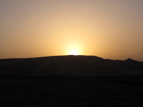 Photo I took of the sunrise at a Bedouin camp in Israel