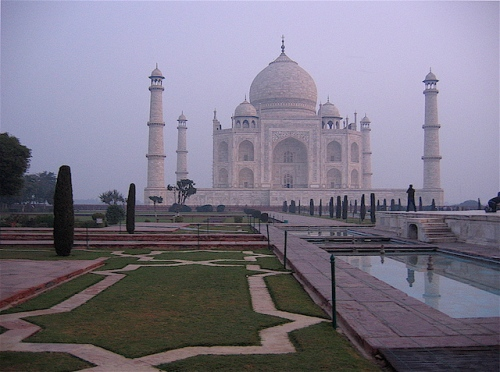 Photo I took of the Taj Mahal at dawn