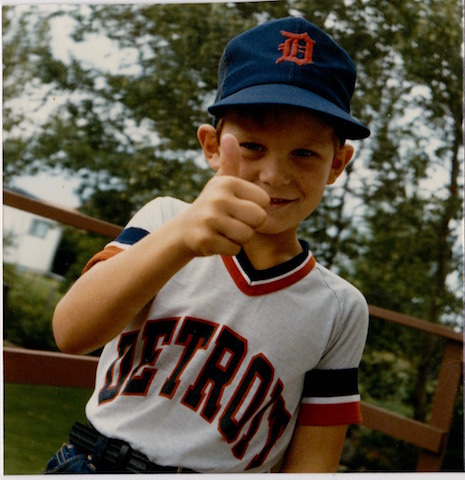 Our son at age six ready for a Tigers game.