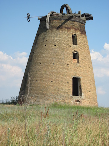 Photo I took of one of the last remaining windmills built by the Mennonites in Ukraine.