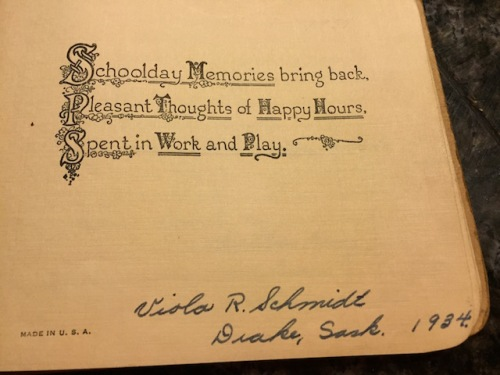 first page of autograph book