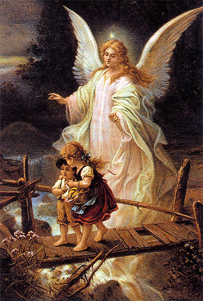 Guardian Angel- 1900 German postcard