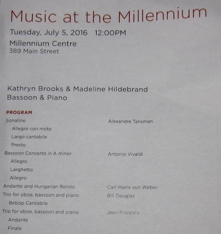 millenium concert series