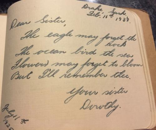 mom's autograph