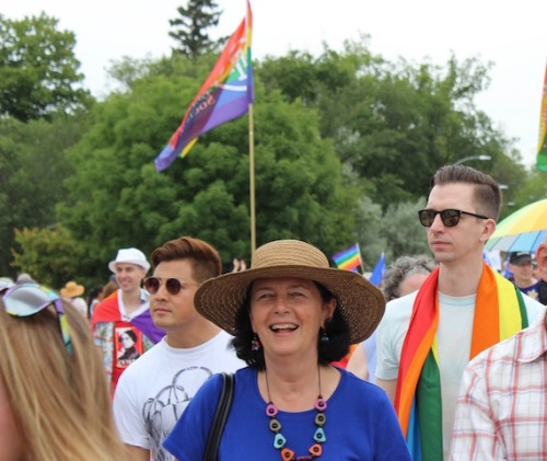 Marching in the Pride Parade in Steinbach. Photo credit- Grant Burr