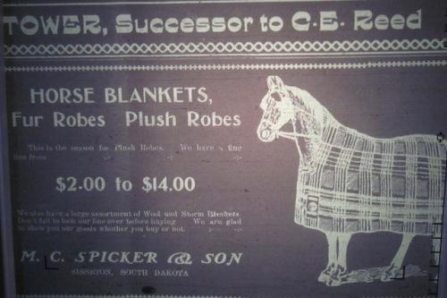horse blanket ad