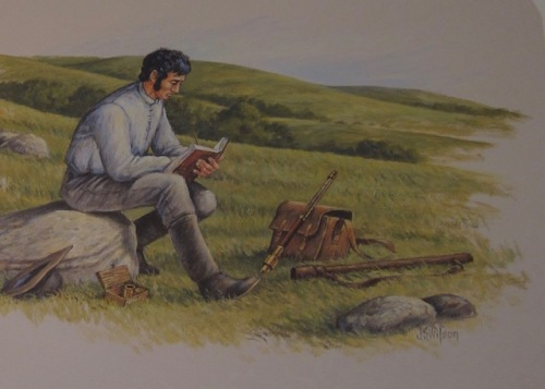 nicollet writing in his diary