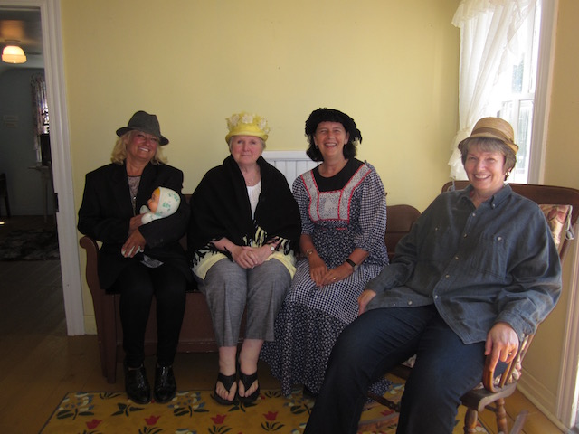 dressed as Mennonites