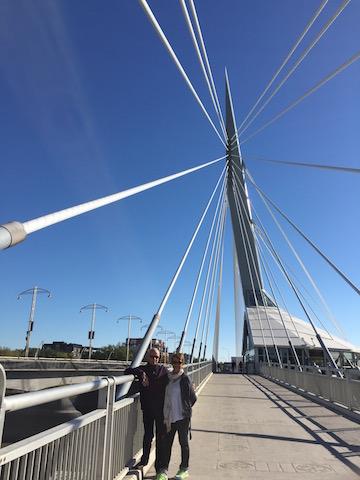 On the Provencher Bridge Winnipeg's most photographed landmark
