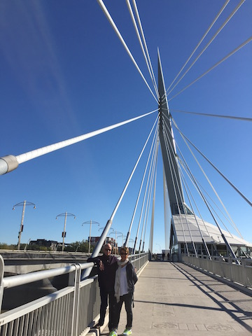 On the Provencher Bridge Winnipeg's most photographed landmark