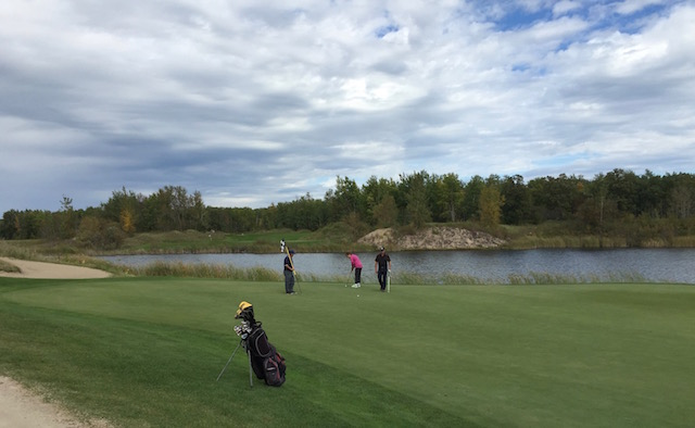 My sister-in-law Shirley had four pars in a row on the back nine