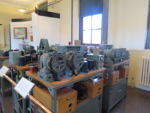 The machinery of the cable station was preserved after the station finally closed in the 1960s