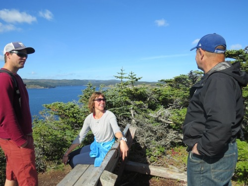 Of course my sociable husband made friends along the trail including this couple who run a bed and breakfast in Norris Point Newfoundland