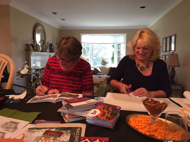 esther-and-glenys-crafting