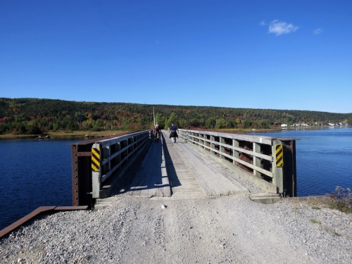 Crossing the railroad bridge