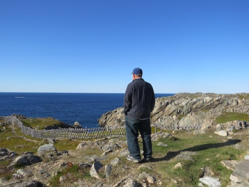 Dave looks out over the spot where Cabot is thought to have landed.