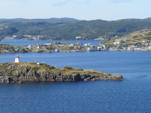 From the hiking trail we could see the village of Trinity where they filmed the movie The Shipping News.