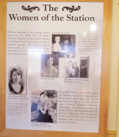 The cable station provided jobs to 300 people- good steady jobs very different from depending on fishing for an income. It also employed 60 women which was an amazing professional opportunity for women in the early 1900s.