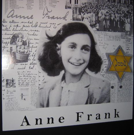 Photo taken at the Anne Frank exhibit in Hong Kong.