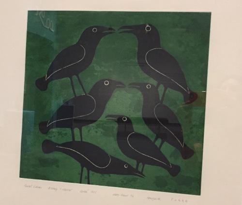Ravens Gather by Kenojuak Ashevak