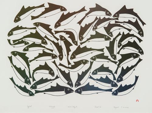 School of Fish by Kenojuak Ashevak