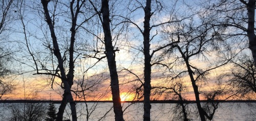 Just took this photo off the deck of our friends' cottage at Jessica Lake. I slept for the first time last night since the election.