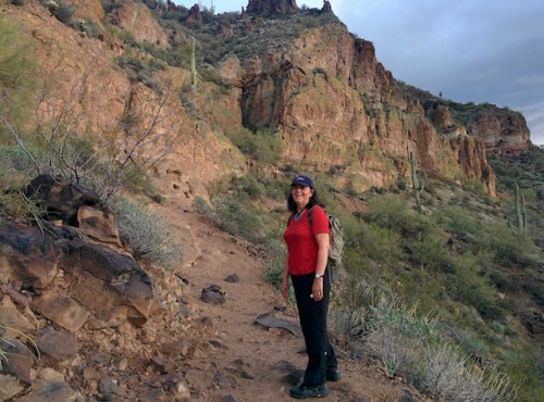 hiking-in-red-shirt