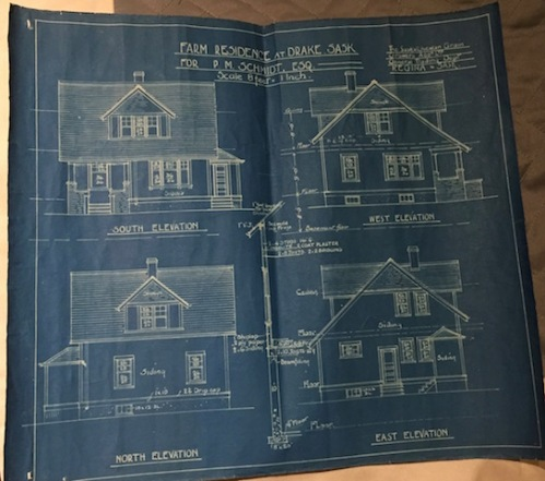 exterior-schmidt-house blue print