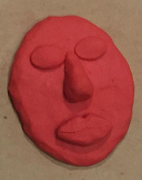 rubber lips clay model
