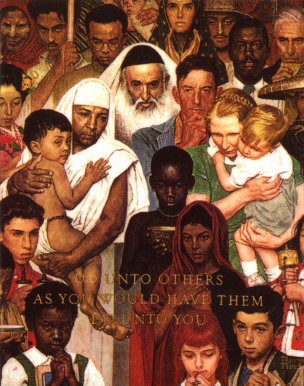 Golden_Rule_by_Norman_Rockwell public domain