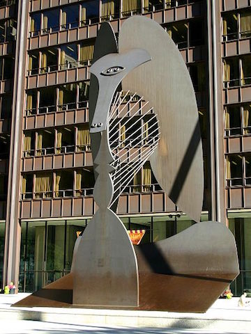 j. Cocker photo of picasso sculpture in chicago