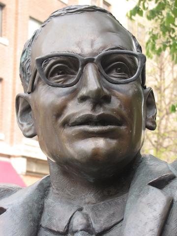 john hirsch statue manitoba theatre centre