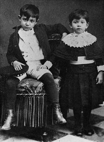 picasso with sister public domain