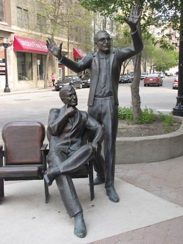 tom hendry and john hirsch statue