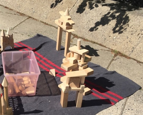 inukshuk by children