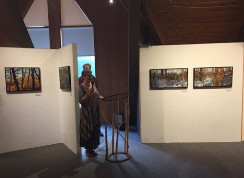 sharon at mennonite heritage gallery