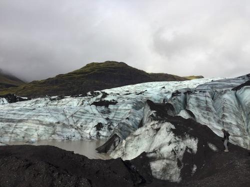 at the glacier vik