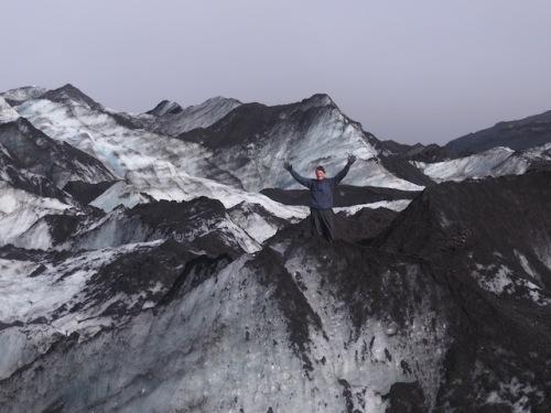 ken on glacier