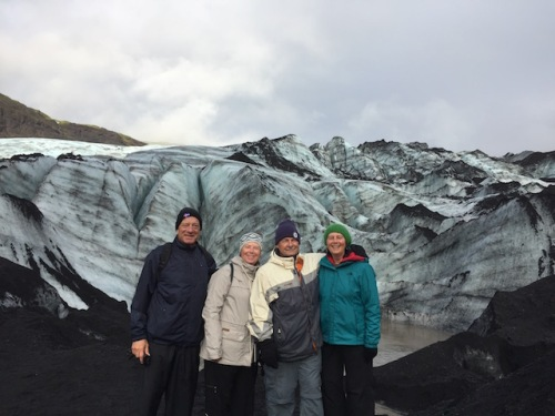 quartet on glacier